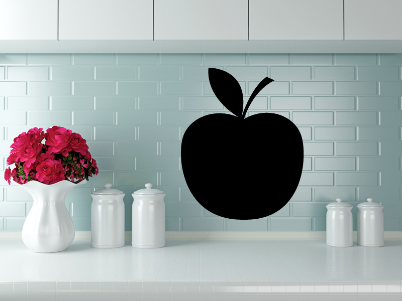 100 x 80 cm | Tafelfolie 🍏 Apfel 🍏  | Kreide & Kreidestift | schwarz | selbstklebend
