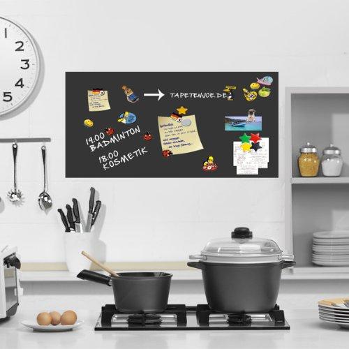 Selbstklebende magnetische Tafelfolie für Kreide_50x50 cm schwarz