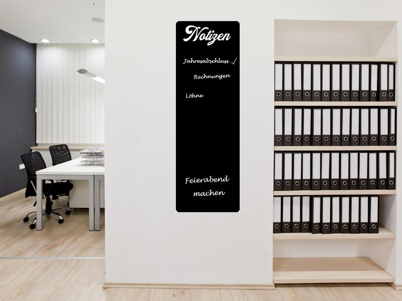 120 x 40 cm | Büroplaner Tafelfolie  | Kreide & Kreidestift | schwarz | selbstklebend